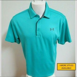 Sz L Under Armour Heat-Gear Mens #821 Golf Polo